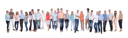 diversity people: Large group of diverse people. Isolated on white