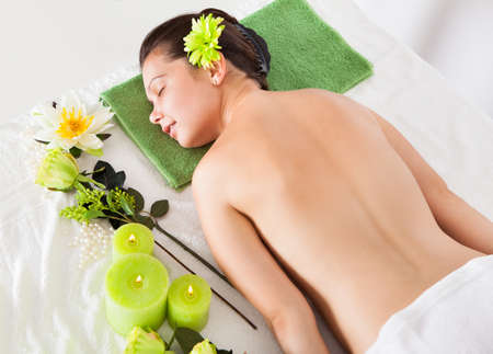 Beautiful Young Woman Relaxing In A Spa Stock Photo - 22161431