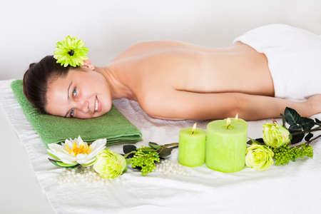 Beautiful Young Woman Relaxing In A Spa Stock Photo - 22604124