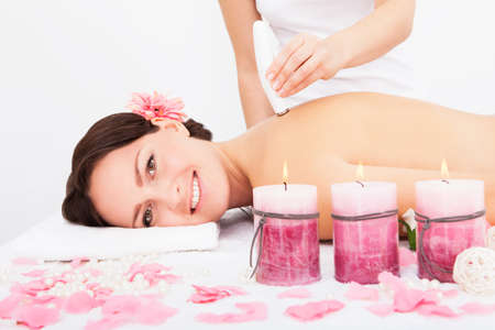 Young Attractive Woman Undergoes Microdermabrasion Therapy In Spa Stock Photo - 24284821