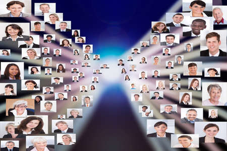 Collage of multiethnic business people representing globalization Stock Photo - 30318825