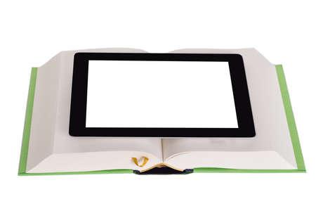 Education technology concept. Isolated on white background photo