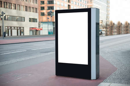 Photo Of Blank Vertical Billboard On Street photo