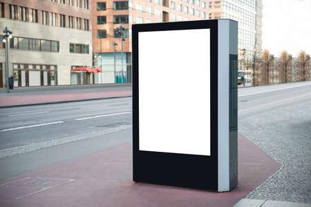 billboard posting: Photo Of Blank Vertical Billboard On Street