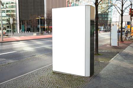 Photo Of Blank Vertical Billboard On Street