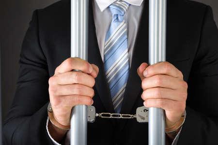 carcel: Primer De Esposado de negocios en cárcel Bares Holding metal