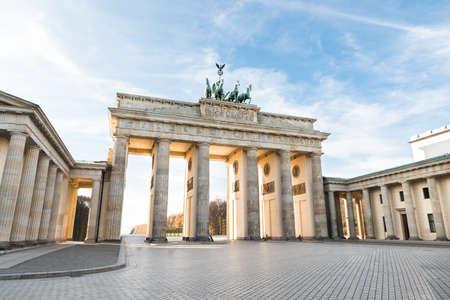 The Famous Brandenburg Gate In Berlin. Germany Standard-Bild