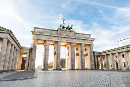 Slavný Braniborská brána v Berlíně. Německo Reklamní fotografie