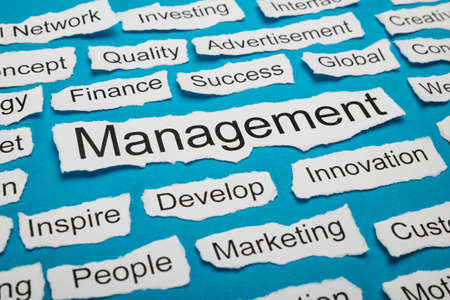 salient: Word Management On Piece Of Paper Salient Among Other Related Keywords Stock Photo
