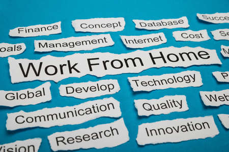 salient: Work From Home Text On Piece Of Paper Salient Among Other Related Keywords