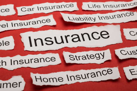 salient: Word Insurance On Piece Of Paper Salient Among Other Related Keywords Stock Photo