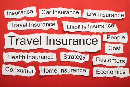 salient: Travel Insurance Text On Piece Of Paper Salient Among Other Related Keywords