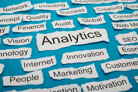 salient: Word Analytics On Piece Of Paper Salient Among Other Related Keywords