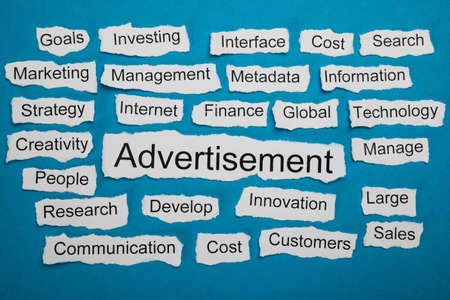 salient: Word Advertisement On Piece Of Paper Salient Among Other Related Keywords