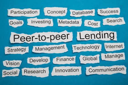 downloadable: Peer-to-peer And Lending Text On Piece Of Paper Salient Among Other Related Keywords