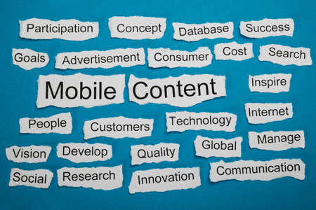 salient: Mobile Content Text On Piece Of Paper Salient Among Other Related Keywords