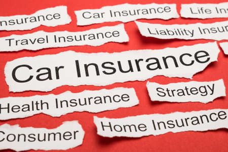 salient: Car Insurance Text On Piece Of Paper Salient Among Other Related Keywords