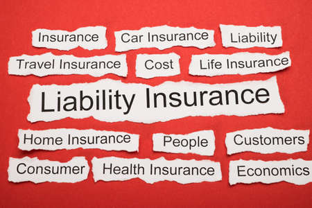 liability insurance: Liability Insurance Text On Piece Of Paper Salient Among Other Related Keywords Stock Photo
