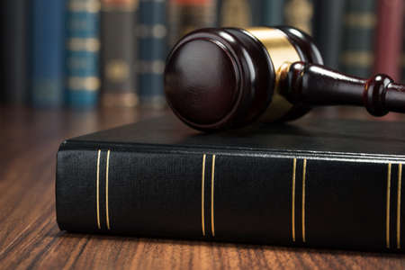 Close-up Photo Of Gavel And Law Book