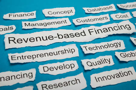 financially: Revenue-based Financing Text On Piece Of Paper Salient Among Other Related Keywords