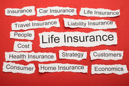 salient: Life Insurance Text On Piece Of Paper Salient Among Other Related Keywords