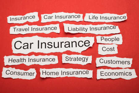 liability insurance: Car Insurance Text On Piece Of Paper Salient Among Other Related Keywords