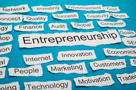 salient: Word Entrepreneurship On Piece Of Paper Salient Among Other Related Keywords