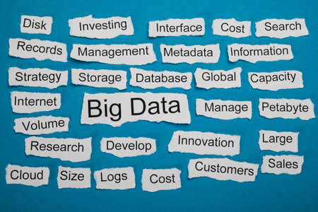 metadata: Word Big Data On Piece Of Paper Salient Among Other Related Keywords