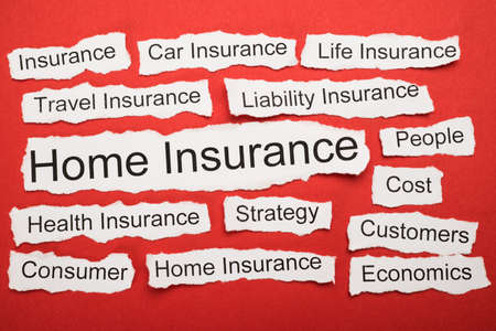 salient: Home Insurance Text On Piece Of Paper Salient Among Other Related Keywords Stock Photo
