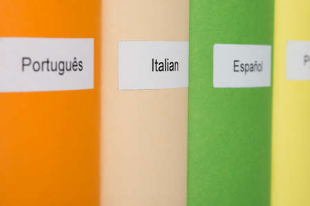 Close-up Of Multicolored Books With Different Languages photo