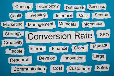 metadata: Conversion Rate Text On Piece Of Paper Salient Among Other Related Keywords