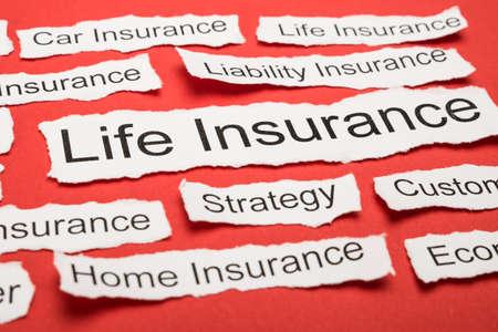 Life Insurance Tekst Op Stuk Papier Salient onder andere zoekwoorden