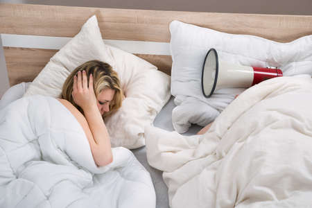 snoring: Woman Disturbed By The Snores Of Husband In The Bedroom