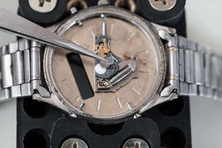 pinzas: Close-up Foto De Pinzas Reparaci�n reloj de pulsera Foto de archivo