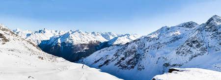 tirol: Snowy Alpine Mountains In Solden In Oetztal Alps; Tirol; Austria