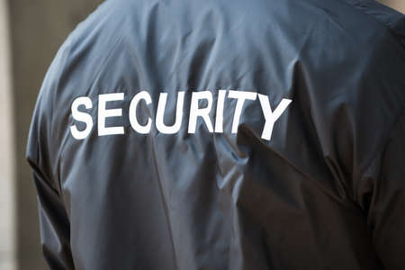 security guard: Photo Of Back Of Security Guard Jacket