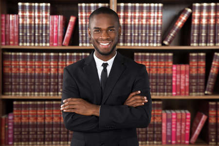 Portrait Of Happy Male Lawyer In Office