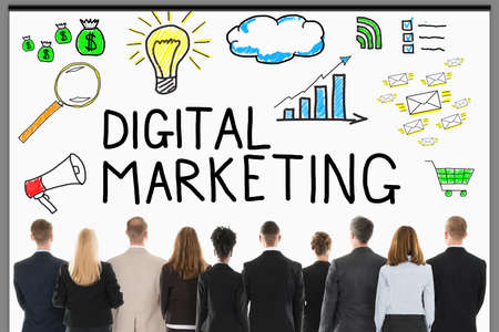 digital marketing: Digital Media marketing Concept