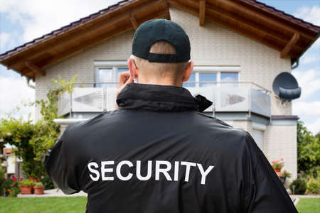 guard house: Security Guard Outside