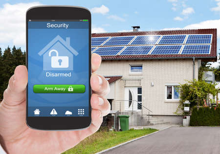alarming: Mobile Home Security Access Stock Photo