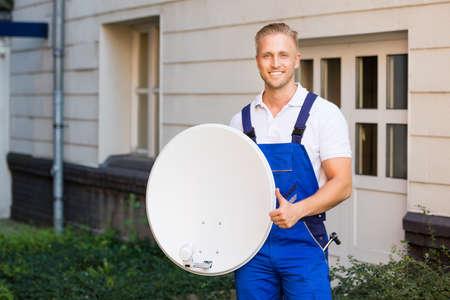Satellite Dish Installation Photos Images Royalty Free – Satellite Dish Technician