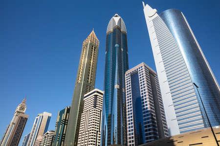 The Modern Skyscrapers Along Sheikh Zayed Road, UAE