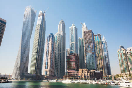 Modern Buildings At Marina District In New Dubai, UAE