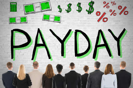 Group Of Diverse People Looking At Payday Employee Compensation