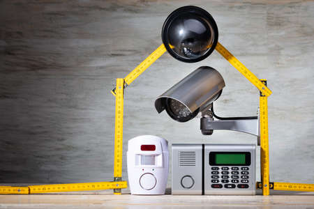 House Security Objects In Security Concept