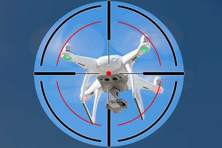 Nahaufnahme des Schießstandsziels auf Drohne