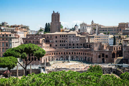 Roman Forum High Angle View, Rome, Italy