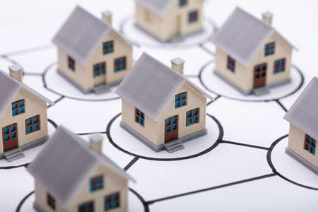House Modes In Circles Connected Together In Homeowners Association
