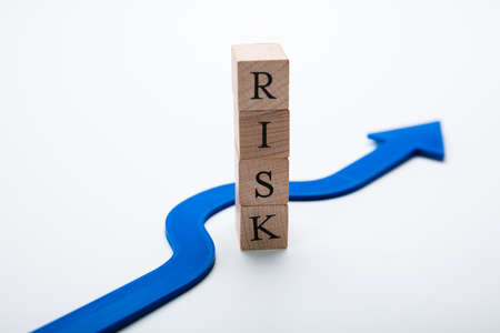 Arrow Going Around Word Tax In Avoid Risk Concept