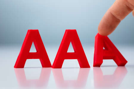 Credit Rating Decrease From AAA to AA Concept